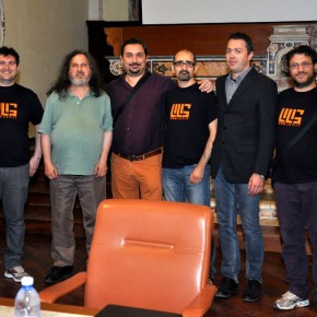 Le foto e il video con Richard Stallman